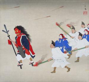 出典:吉田神社追儺 都年中行事画帖(1928年)